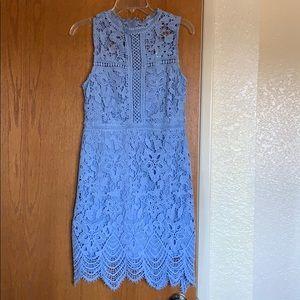 She + Sky blue lace dress size L